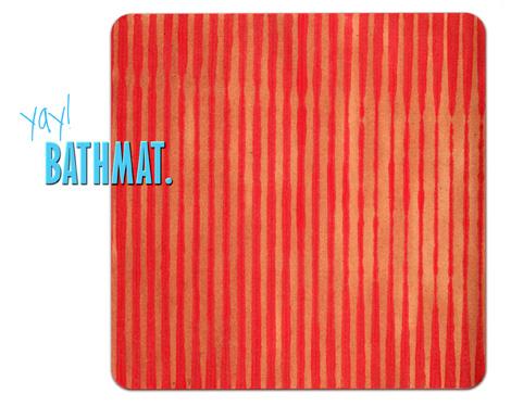 Redstripeybathmat